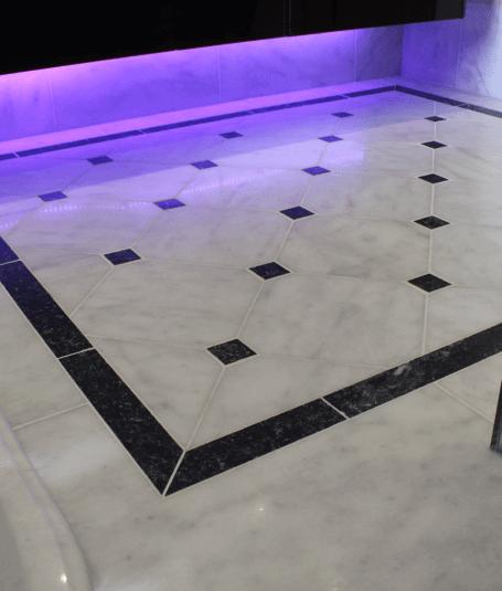 Beautiful marble flooring by Harrogate tiler PRD Ceramics