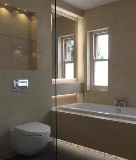 Beautiful tiled bathroom Harrogate tiler PRD ceramics