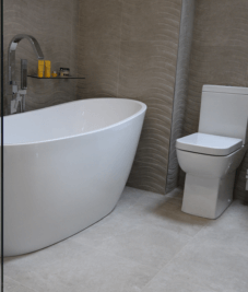 Contemporary Bathroom Installation by Harrogate Tiler, PRD Ceramics