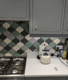 Kitchen splash back from Fired Earth