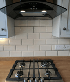 Kitchen splashback – cream metro