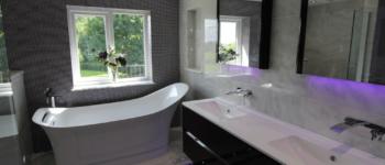 Mosaic tiled bathroom Harrogate tiler PRD Ceramics