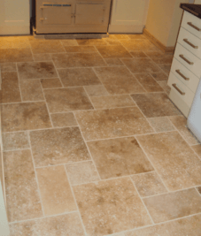 Opus romane kitchen floor by Harrogate tiler PRD ceramics