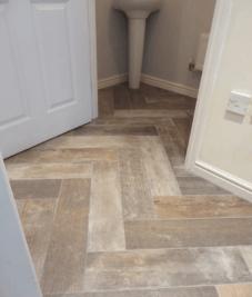 Plank tiling by Harrogate tilers PRD Ceramics