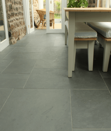 Slate floor by Harrogate tiler PRD Ceramics