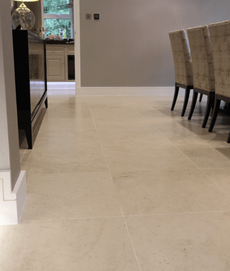 Stunning dining room floor tiling by Harrogate tilers PRD Ceramics