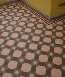 Victorian floor tiling by Harrogate tiler PRD Ceramics